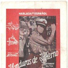 Cine: PTEB 042 HONDURAS DE INFIERNO PROGRAMA DOBLE MGM ROBERT MONTGOMERY WALTER HUSTON MADGE EVANS. Lote 139941082