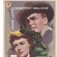 Cine: 5 PISTOLAS CON JOHN LUND, DOROTHY MALONE AÑO 1958 EN CINEMAS PRINCIPAL Y LA RAMBLA. Lote 139942242