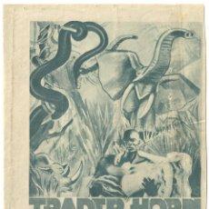 Cine: PTEB 042 TRADER HORN PROGRAMA DOBLE CONCURSO MGM HARRY CAREY EDWINA BOOTH. Lote 139942946