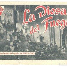 Cine: PTEB 043 LA DIOSA DEL FUEGO PROGRAMA TARJETA RADIO FILMS RANDOLPH SCOTT B. Lote 140011362
