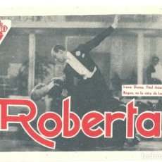 Cine: PTEB 043 ROBERTA PROGRAMA TARJETA RADIO FILMS FRED ASTAIRE GINGER ROGERS IRENE DUNNE RANDOLPH SCOTT. Lote 140012906