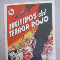 Cine: FUGITIVOS DEL TERRORROJO , ELIA KAZAN , CINE ROCH , ALCAÑIZ. Lote 140015066