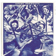 Cine: PTEB 043 HOMBRES DEL MAÑANA PROGRAMA TARJETA CIFESA FRANK BORZAGE. Lote 140016406