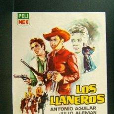 Cine: LOS LLANEROS-ISMAEL RODRIGUEZ-ANTONIO AGUILAR-JULIO ALEMAN-MONTALBAN-TIJOLA PROVINCIA ALMERIA-1960. . Lote 140029926