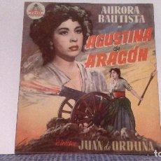 Cine: PROGRAMA DOBLE - AGUSTINA DE ARAGÓN - AURORA BAUTISTA / FERNANDO REY - SIN PUBLICIDAD 10X12 FOTOS. Lote 140030718