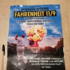 Cine: CARTEL ORIGINAL -A3- FAHRENHEIT 11 9 - POLITICA - MICHAEL MOORE. Lote 155287648