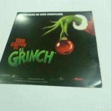Cine: EL GRINCH-JIM CARREY. Lote 140165014