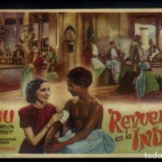 Cine: REVUELTA EN LA INDIA, FOLLETO DE MANO CON SABU . Lote 140172934