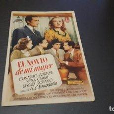 Cine: PROGRAMA DE MANO ORIGINAL- EL NOVIO DE MI MUJER - CINE DE ALCOY. Lote 140198042