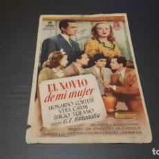 Cine: PROGRAMA DE MANO ORIGINAL- EL NOVIO DE MI MUJER - CINE DE HUELVA. Lote 140198054