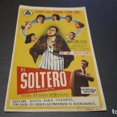 Cine: PROGRAMA DE MANO ORIGINAL- EL SOLTERO - CON CINE . Lote 140198062