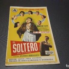Cine: PROGRAMA DE MANO ORIGINAL- EL SOLTERO - CINE DE ONTENIENTE . Lote 140198070