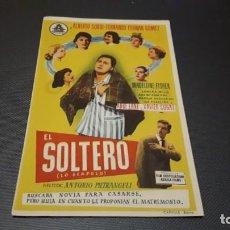 Cine: PROGRAMA DE MANO ORIGINAL- EL SOLTERO - CON CINE . Lote 140198078