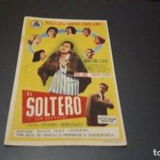 Cine: PROGRAMA DE MANO ORIGINAL- EL SOLTERO - CON CINE . Lote 140198082