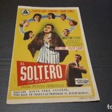 Cine: PROGRAMA DE MANO ORIGINAL- EL SOLTERO - CINE DE PEGO . Lote 140198086