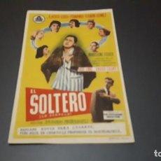 Cine: PROGRAMA DE MANO ORIGINAL- EL SOLTERO - CINE DE JATIVA. Lote 140198090