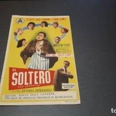 Cine: PROGRAMA DE MANO ORIGINAL- EL SOLTERO - CINE DE LLAGOSTERA. Lote 140198098