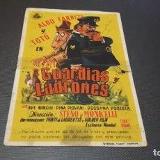 Cine: PROGRAMA DE MANO ORIGINAL- GUARDIAS Y LADRONES - CINEMA PALACIO . Lote 140198162