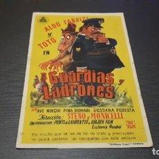 Cine: PROGRAMA DE MANO ORIGINAL- GUARDIAS Y LADRONES - CINE DE NOVELDA. Lote 140198174