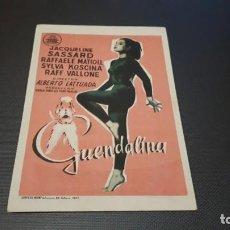 Cine: PROGRAMA DE MANO ORIGINAL- GUENDALONA- CINE DE SANTANDER . Lote 140198198