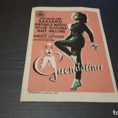 Cine: PROGRAMA DE MANO ORIGINAL- GUENDALONA- CON CINE . Lote 140198206