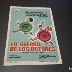 Cine: PROGRAMA DE MANO ORIGINAL- LA GUERRA DE LOA BOTONES - CINE DE MERIDA . Lote 140198242