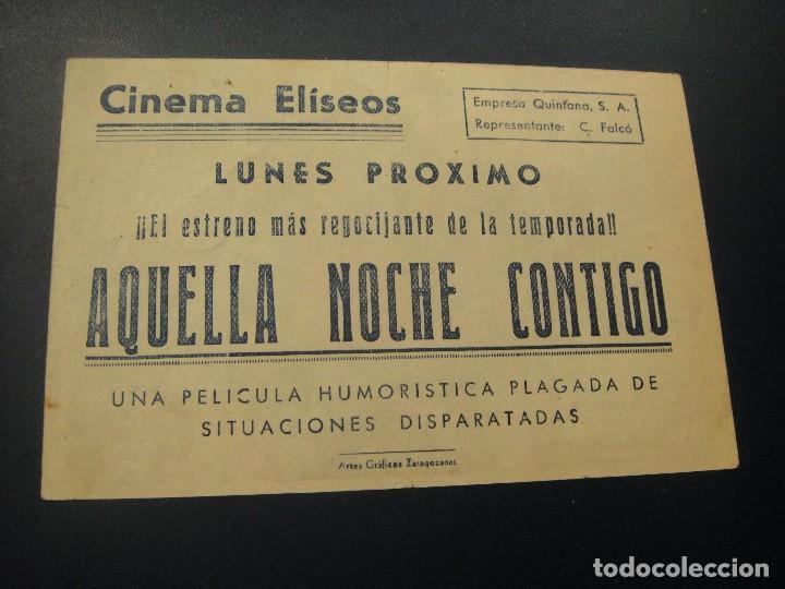 Cine: aquella noche contigo , cine eliseos , zaragoza - Foto 2 - 140207318