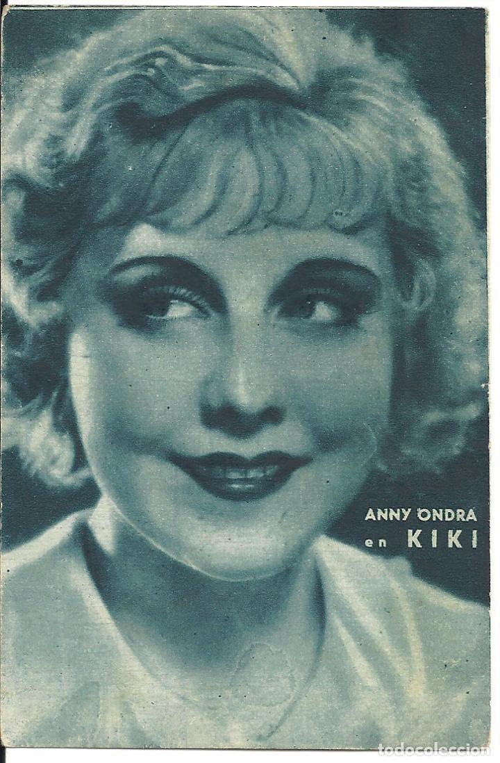PTEB 051 KIKI PROGRAMA TARJETA ANNY ONDRA A (Cine - Folletos de Mano - Comedia)