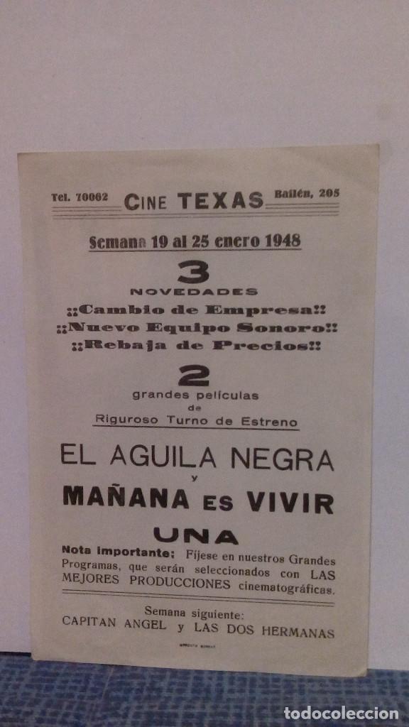 Cine: MAÑANA ES VIVIR - CLAUDETTE COLBERT / ORSON WELLES CON PUBLICIDAD AL DORSO - EXCELENTE ESTADO - Foto 2 - 140296938