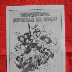 Foglietti di film di film antichi di cinema: DISPARATADA PATRULLA DE ESQUI, IMPECABLE PROGRAMA MODERNO B/N, CON PUBLI CINE REUS PALACE. Lote 140301814