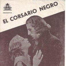 Cine: PTEB 053 EL CORSARIO NEGRO PROGRAMA DOBLE CIFESA CIRO VERRATTI SILVANA JACHINO EMILIO SALGARI GDE. Lote 140309098