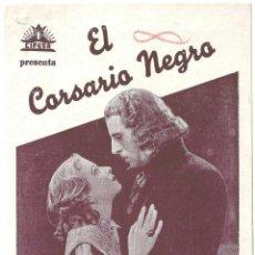 Cine: PTEB 053 EL CORSARIO NEGRO PROGRAMA DOBLE CIFESA CIRO VERRATTI SILVANA JACHINO EMILIO SALGARI. Lote 140309746