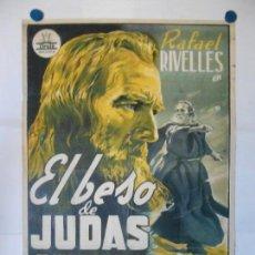 Cine: EL BESO DE JUDAS - PERIS ARAGO - CARTEL LITOGRAFICO ORIGINAL - 70 X 100. Lote 140352854