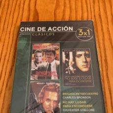 Cine: PACK DVD CINE DE ACCION CLASICOS 3X1 PELICULAS. Lote 140375490