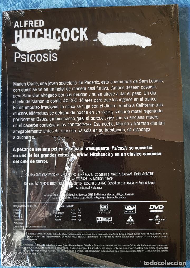 Cine: LIBRO Y DVD PELÍCULA PSICOSIS. ALFRED HITCHCOCK GOLD EDITION. NUEVO. PRECINTADO. - Foto 2 - 140393566