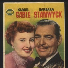 Cine: P-7259- INDIANAPOLIS (TO PLEASE A LADY (RED HOT WHEELS)) CLARK GABLE - BARBARA STANWYCK. Lote 140409706