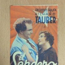 Cine: EL SENDERO DE LA GLORIA - PROGRAMA DOBLE DE MANO SIN PUBLICIDAD. Lote 140431558