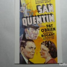 Cine: PROGRAMA MODERNO SAN QUENTIN - H.BOGART. Lote 140433446