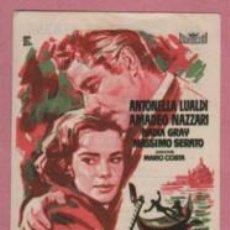 Cine: PROGRAMA TEMA CINE SINDICAL DE VERANO CASTELLÓN - PIEDAD PARA EL CAIDO 1960 ANTONELLA LAULDI. Lote 140435250