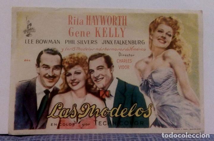 LAS MODELOS - RITA HAYWORTH / GENE KELLY - PROGRAMA DE MANO / FOLLETO DE CINE SIN PUBLICIDAD (Cine - Folletos de Mano - Musicales)