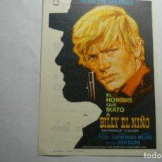 Cine: PROGRAMA EL HOMBRE QUE MATO A BILLY EL NIÑO - PETER LEE LAWRENCE- PUBLICIDAD. Lote 140488450