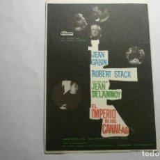 Cine: PROGRAMA EL IMPERIO DE LOS CANALLAS- JEAN GABIN. Lote 140488542