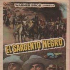 Cine: PROGRAMA TEMA CINE TIVOLI DE EL VENDRELL - TARRAGONA - EL SARGENTO NEGRO JEFFREY HUNTER C. TOWERS. Lote 140501534