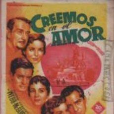 Cine: PROGRAMA CINE CATALUÑA DE MANRESA CREMOS EN EL AMOR - DE JEAN NEGULESCO. Lote 140501814