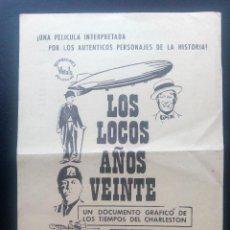 Cine: LOS LOCOS AÑOS VEINTE. Lote 140503434
