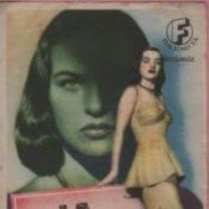 Cine: PROGRAMA CINE CIRCULO FAMILIAR RECREATIVO DE MANRESA - LA ARAÑA - ELLA RAINES 1948. Lote 140504554