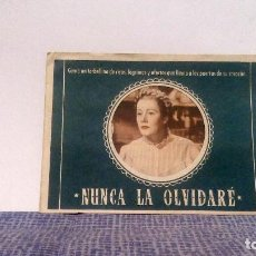 Cine: NUNCA LA OLVIDARÉ - DOBLE TROQUELADO - IRENE DUNNE / GEORGE STEVENS - CINE COLISEUM DE BARCELONA. Lote 140506290
