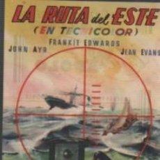 Cine: PROGRAMA CINE APOLO D MANRESA 1947 - LA RUTA DEL ESTE - JOHN AYR F. EDWARS JEAN EVANS. Lote 140511054