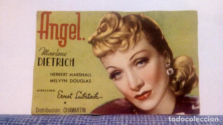 ANGEL - MARLENE DIETRICH - DIRECTOR: ERNST LUBITSCH - PROGRAMA DE MANO APAISADO SIN PUBLICIDAD (Cine - Folletos de Mano - Drama)