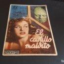 Cine: PROGRAMA DE MANO ORIG - EL CASTILLO MALDITO - CINE ESPAÑOL . Lote 140583902